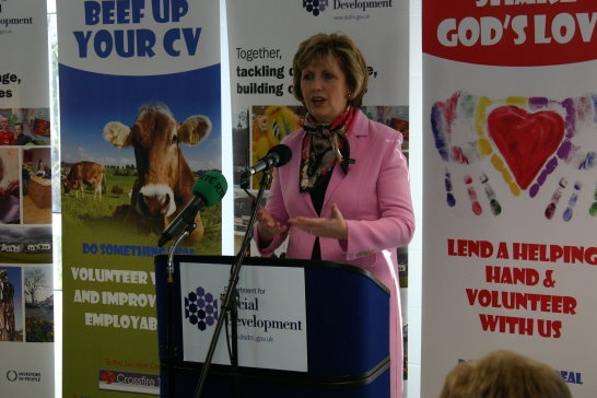 Mary McAleese visits Darkley House