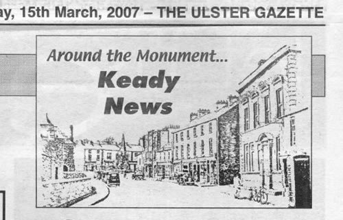 Ulster Gazette article - 15 March