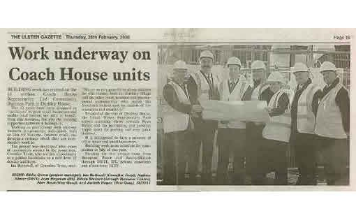 Ulster Gazette article - 28 February 2008
